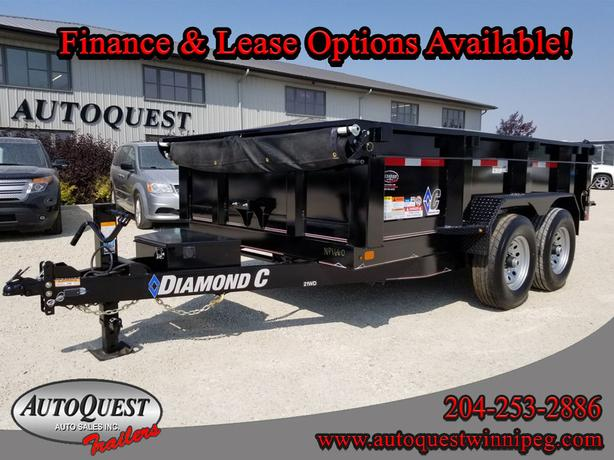 "2018 Diamond C 21WD 12' x 82"" Dump Trailer - 14 900 lbs"