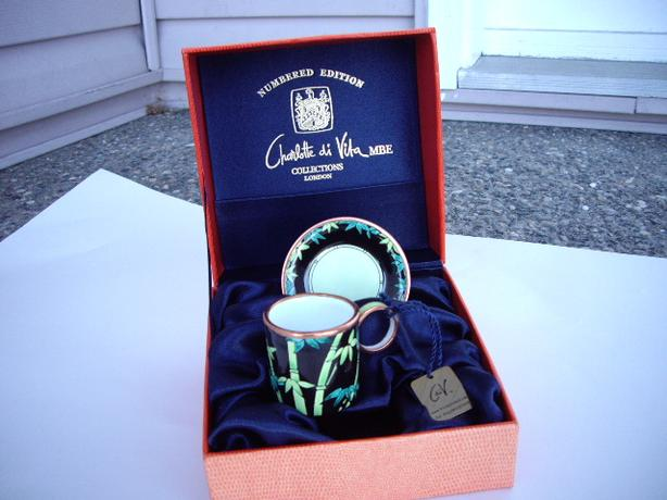Charlotte di Vita MBE  cup and saucer minature