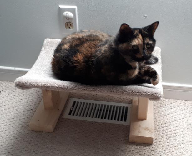 New! Cat Bed For Over Registers.