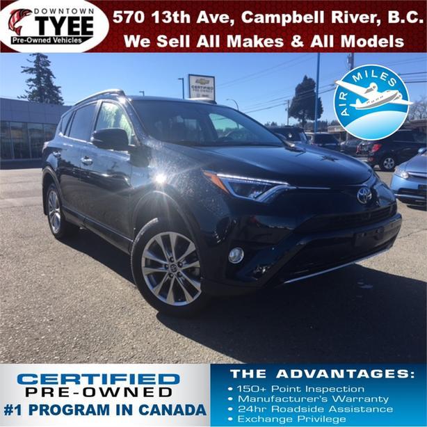 2018 Toyota Rav4 Hybrid Limited AWD Navigation Bluetooth