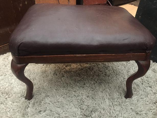 Queen Anne antique foot stool