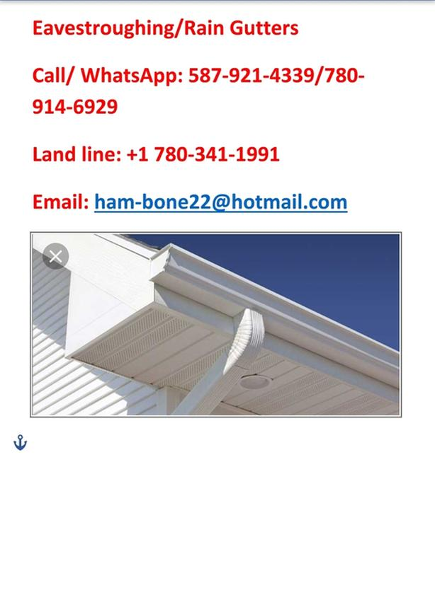 FOR TRADE: Offering Eavestrough/Rain gutters services