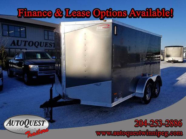"2019 RC Trailers 7' x 12' x 72"" V-Nose Cargo Trailer 7 000 lbs"