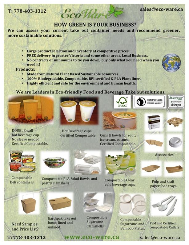 Compostable take out containers