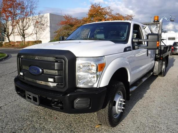 2013 Ford F-350 SD XL Crew Cab 9 Foot Flat Deck Service Truck Dually 4WD