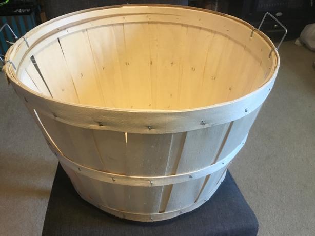 Large Wooden Bushel/Apple basket - NEW