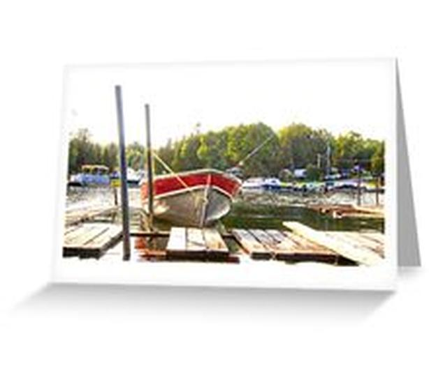 Whiskey Bay Harbour, St Joseph Island, GREETING CARDS