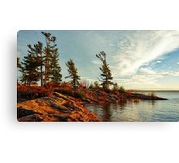 Northern Ontario Lake Shoreline  Canvas Print 762 X 428mm
