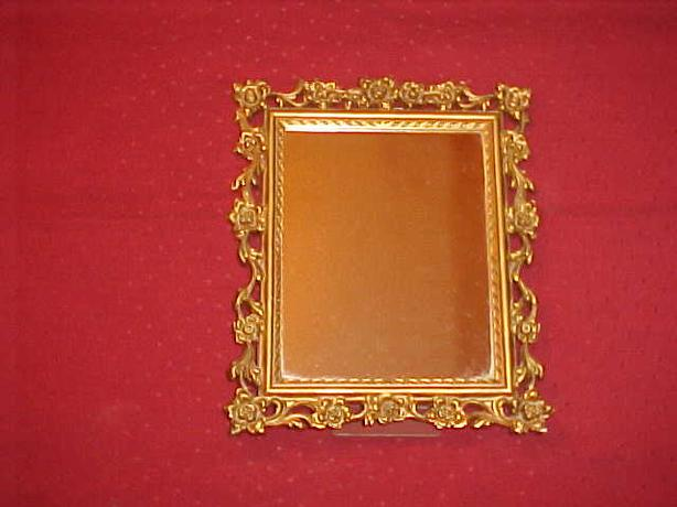 VINTAGE SYROCO WALL OR STANDING DRESSER MIRROR