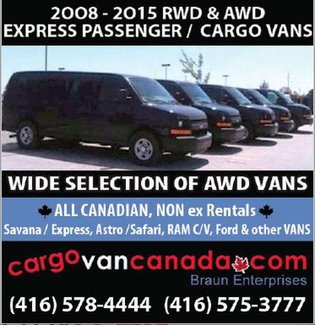 2015-08 EXPRESS AWD & RWD PASSENGER/ CARGO & other VANS