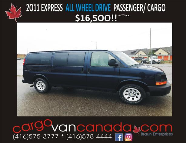 2011 EXPRESS ALL WHEEL DRIVE VANS from $16,5OO!!