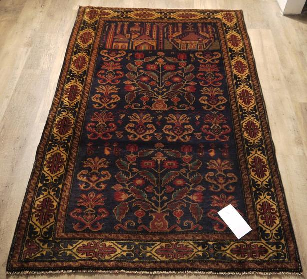 Balutch Hand-Knotted/Handmade Afghan Rug/Carpet Tribal/Nomadic Authentic