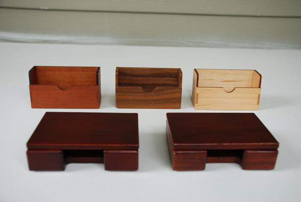 Business Card Holders (hand-made, exotic woods)
