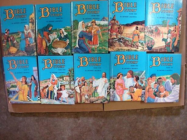  Log In needed $20 · VINTAGE SET OF TEN BOOKS THE BIBLE STORY