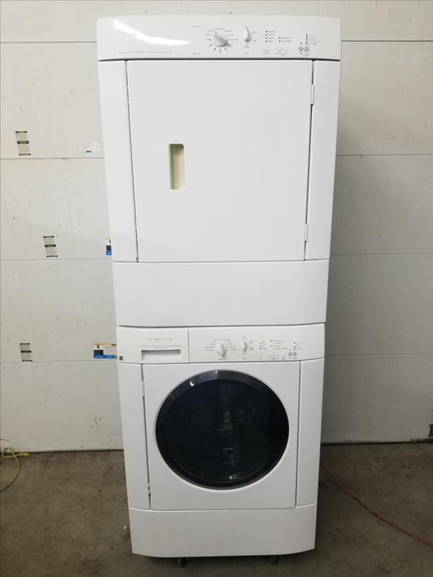 Frigidaire Full Sized Front Load Stackable Washer Dryer