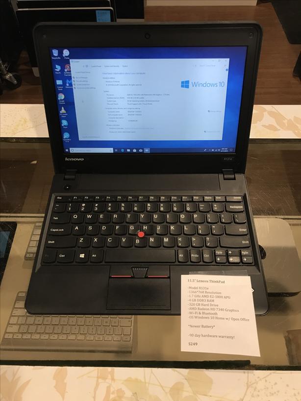 """11.5"""" Lenovo ThinkPad 1.7 GHz AMD E2 4 GB RAM 320 GB HD w/ Warranty!"""