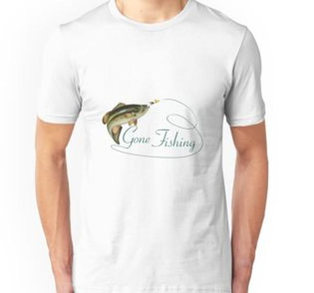 Gone Fishing new Tshirt, choose size and color, great gift