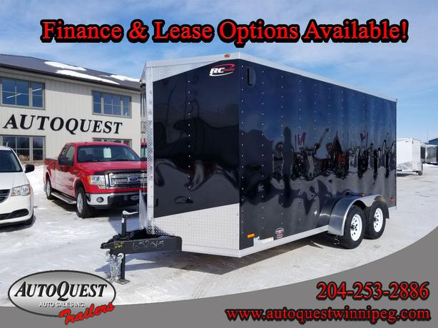 """2019 RC Trailers 7' x 16' x 84"""" V-Nose Cargo Trailer - 7 000 lbs"""