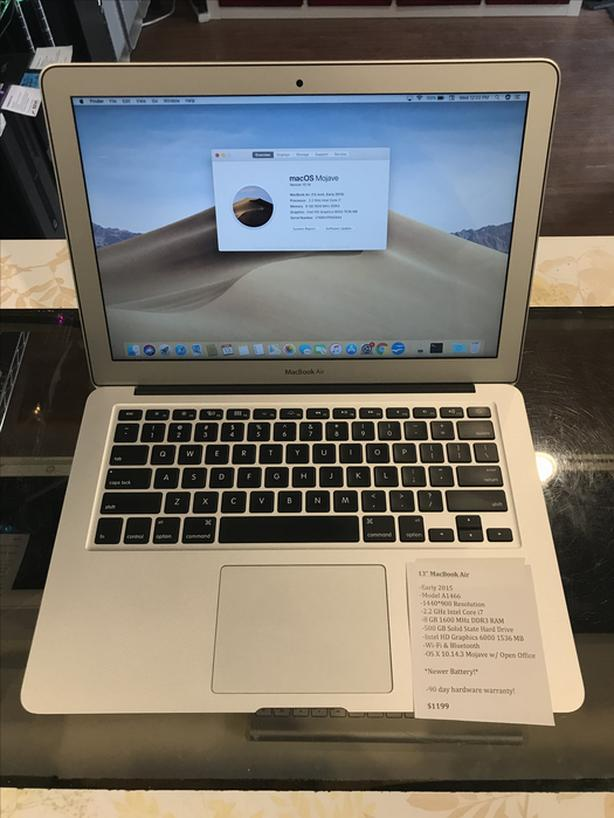 "13"" MacBook Air 2.2GHz i7 8GB RAM 500GB SSD w/ Warranty!"