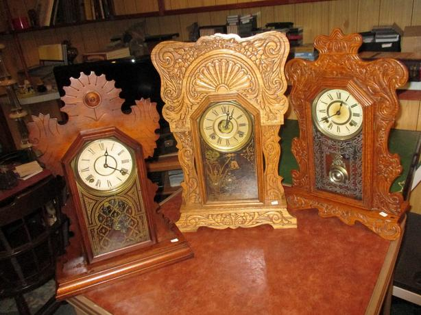GRAMPAS COLLECTION OF GINGERBREAD CLOCKS
