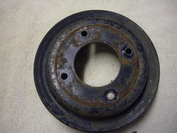 1971-74 pontiac 350/400/455 2 groove crank pulley Outside