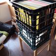 2 stackable plastic file folder carriers