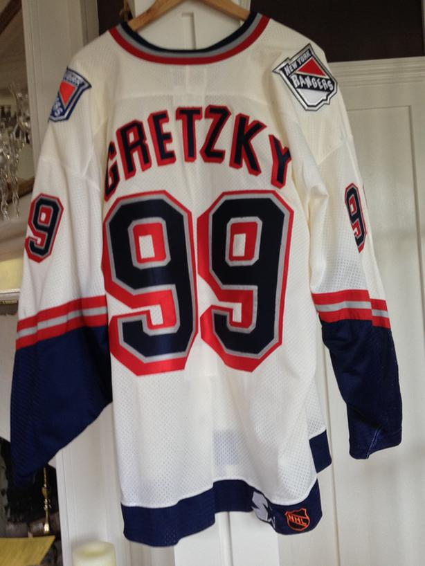 purchase cheap b0981 085f7  Log In needed $450 · Authentic New York Rangers Wayne Gretzky NHL Starter  Liberty Jersey sz 52