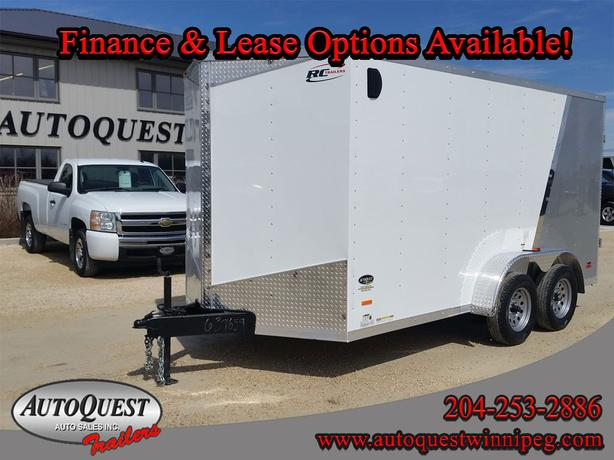 """2019 RC Trailers 7' x 14' x 78"""" V-Nose Enclosed Cargo Trailer -7 000 lbs"""