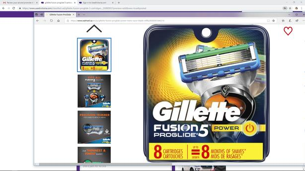 Gillette fusion proglide 5 cartridges