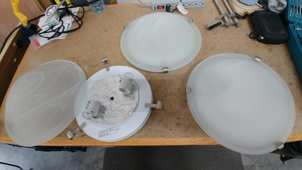 Ceiling Light Fittings x3