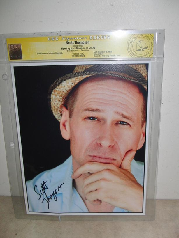 Signed Scott Thompson Photo (Authenticated)