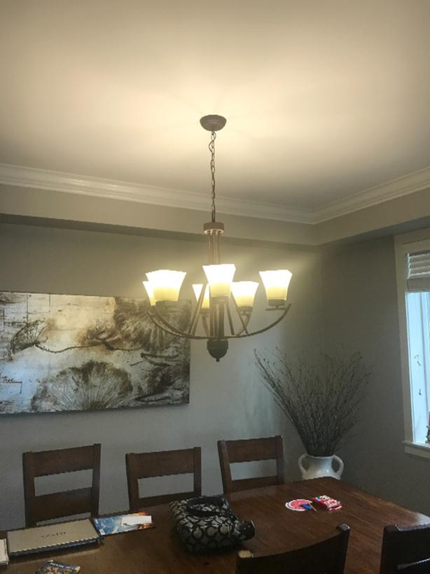 3 light brass pendant light similar to the one pictured