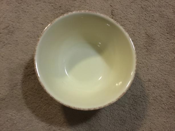 FREE: medium bowl with outside festive design