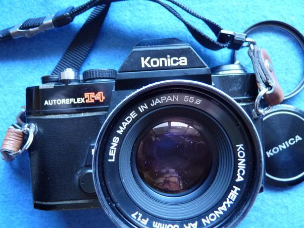 Konica Autoreflex T4 35mm film SLR camera