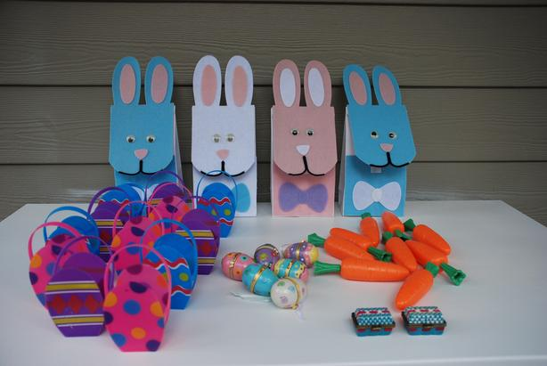 Easter Hinged Boxes, Treat Boxes, Baskets, Bags, Tags