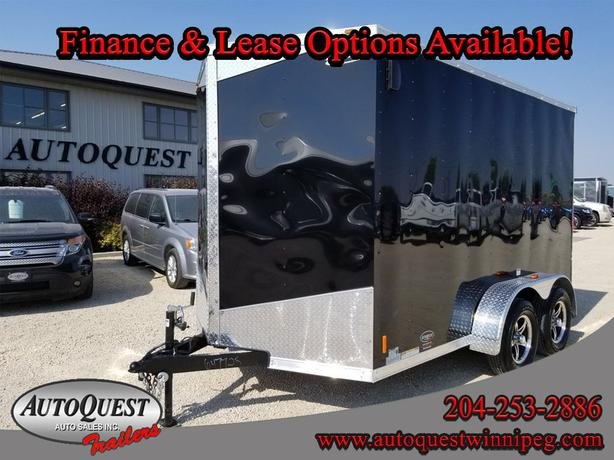 "2019 RC Trailers RC 7' x 12' x 84"" V-Nose Enclosed Cargo Trailer - 7 000 lbs"