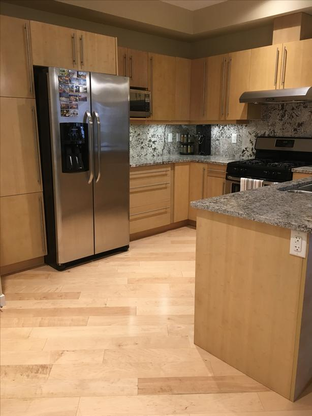 Bamboo Kitchen Cabinets And Granite Countertop Sooke Victoria Mobile