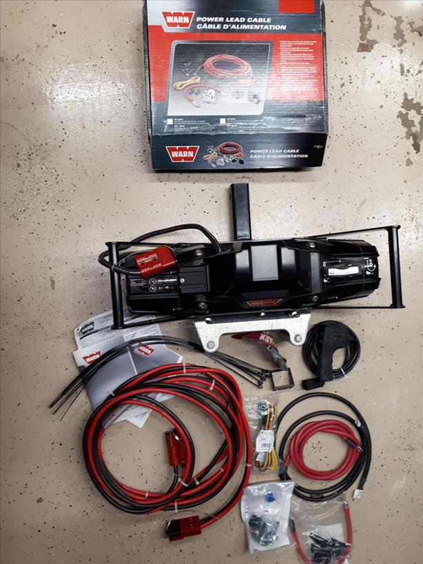 """NEW Warn Winch with 2"""" hitch cket base and all wiring ... Warn Winch Wire Harness on"""