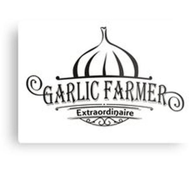 Garlic Farmer Extraordinaire  Metal Print - ADVERTISE your products!