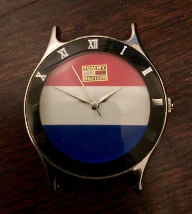 VINTAGE TOMMY HILFIGER WATCH - RED WHITE AND BLUE FACE