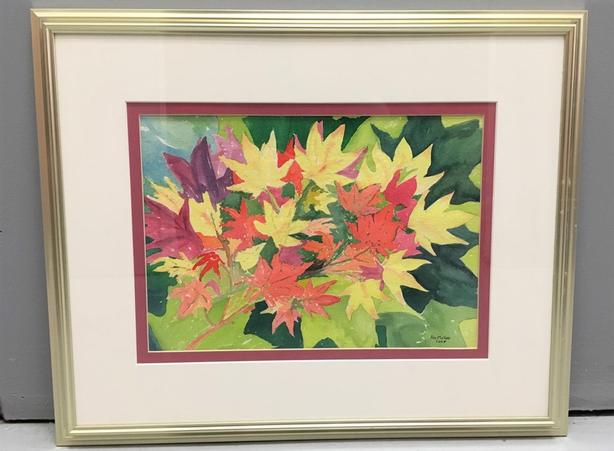 "Original Watercolor by Pat McGee 2008, Gold Frame, Glass & Matting17"" x 21"""