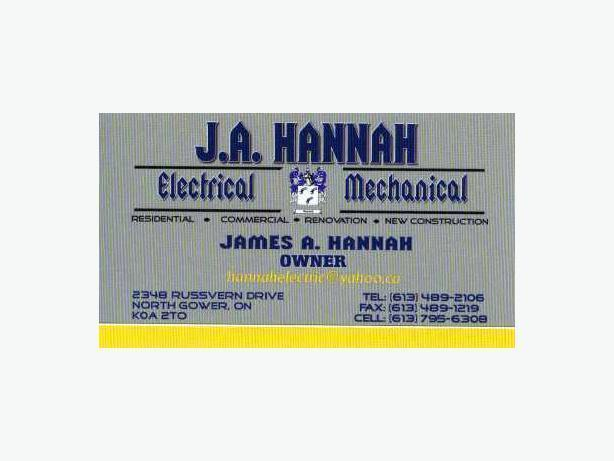 J.A. Hannah Electrical/ Mechanical/ Construction