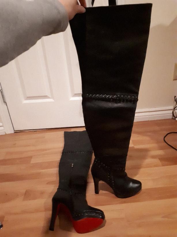 save off e9115 60979 Christian Louboutin thigh high boots Sooke, Victoria
