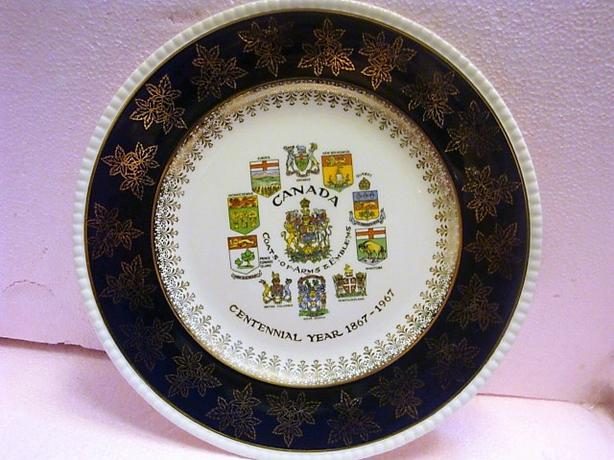 CANADA COATS OF ARMS & EMBLEMS  1867 to 1967 PLATE