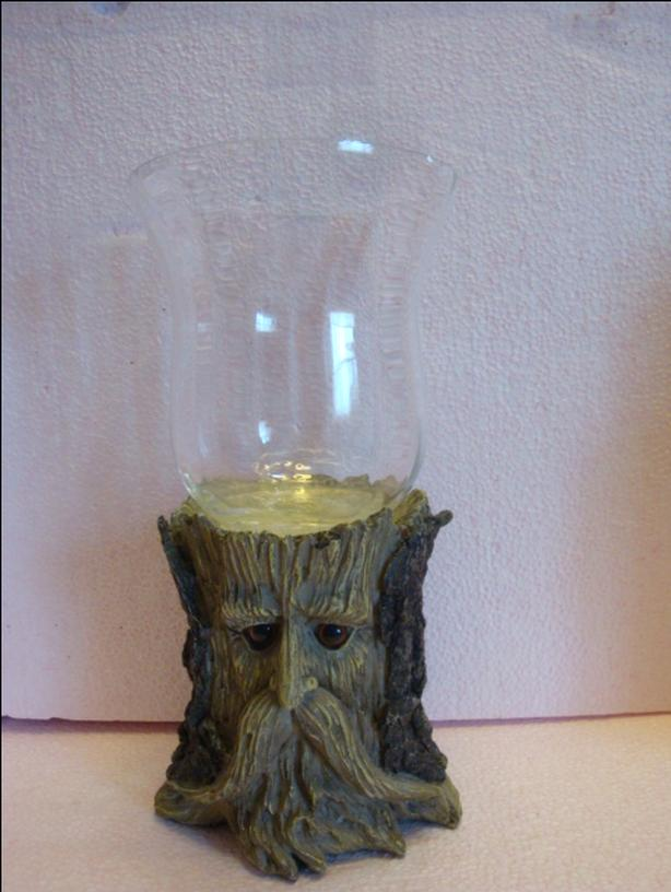 TREE FACE HURRICANE CANDLE HOLDER