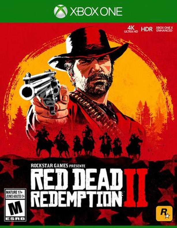 XBox One Red Dead Redemption 2 DVD with Case