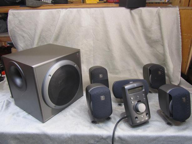 #148297-1 Logitech Z-680 THX Dolby Digital 5.1 surround speaker system