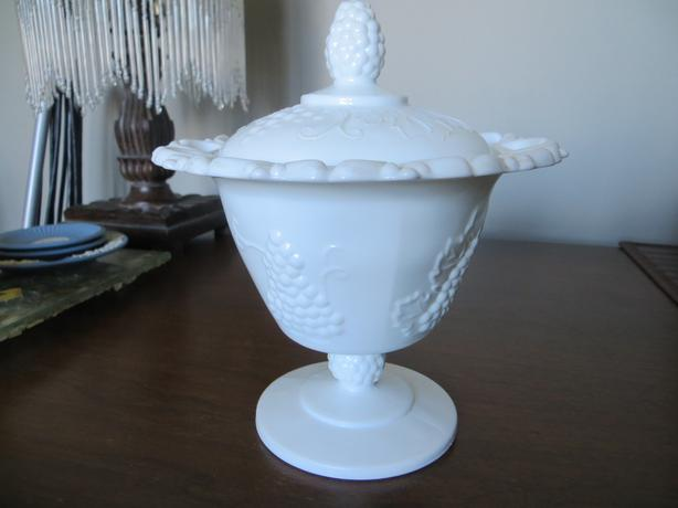 Milk Glass Candy Dish With Lid Duncan Cowichan