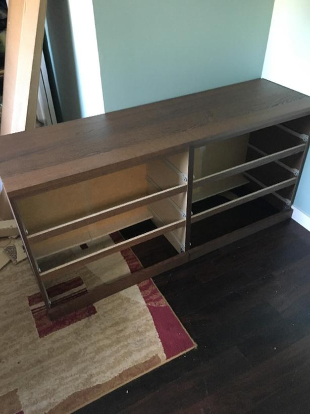 Malm 6 drawer dresser in brown