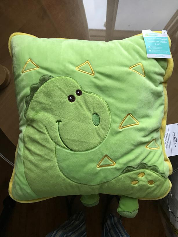 BRAND NEW 2-IN-1 DINO PRINT PILLOW BLANKET for KIDS WITH TAGS